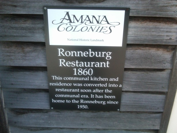 Amana Colonies' Restaurant Sign