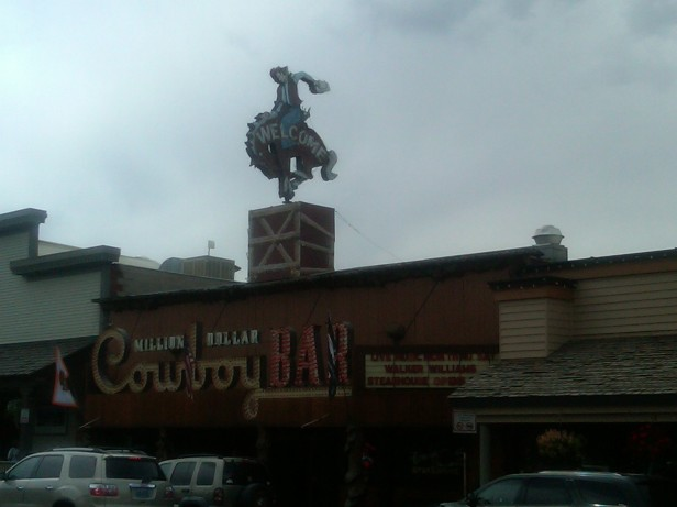 Cowboy Bar with Saddle Seats