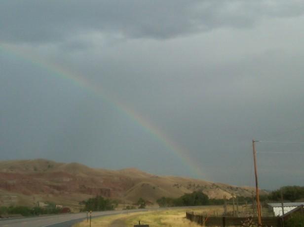 Rainbow Over Painted Hills - Dubois, WY