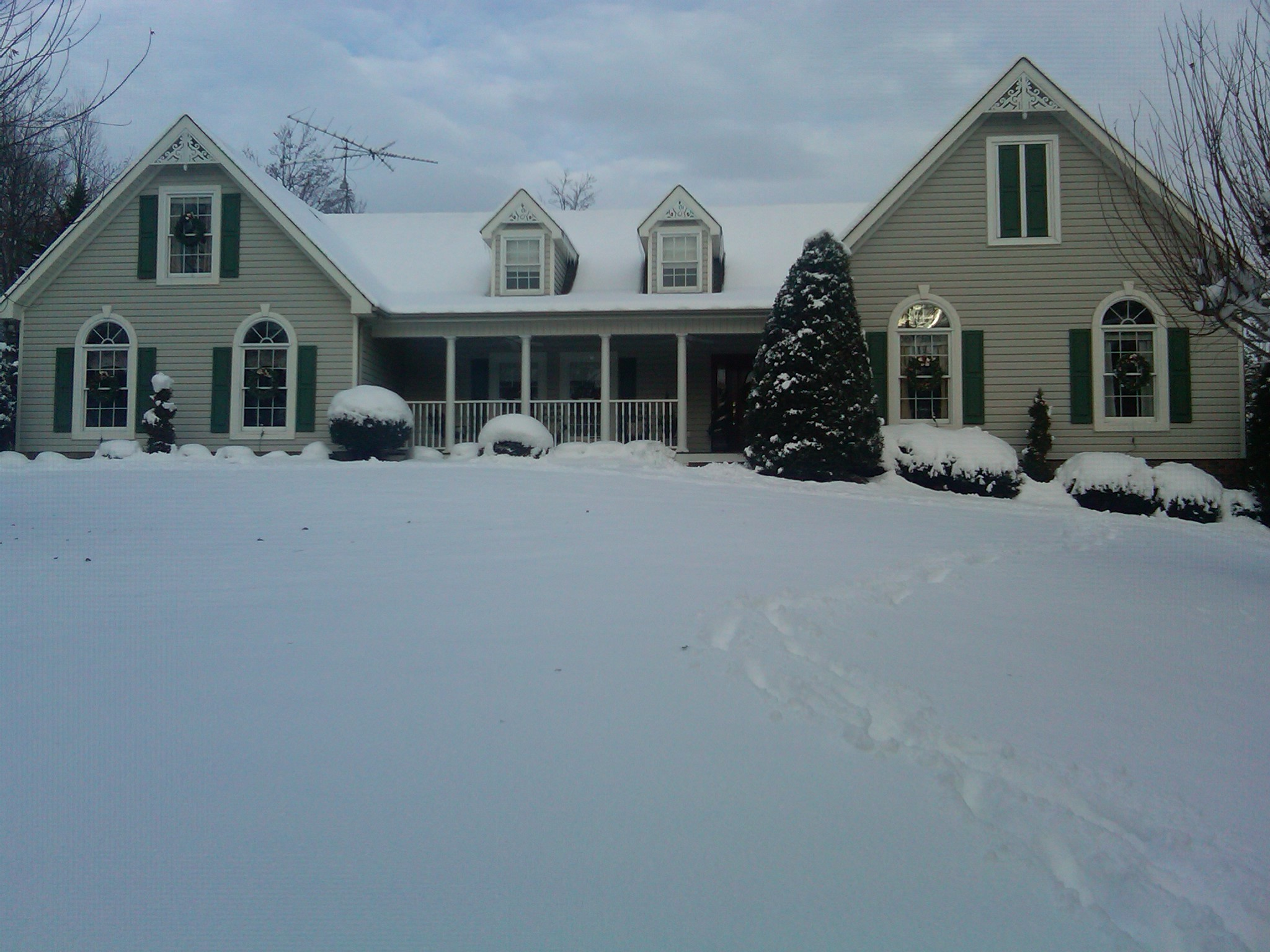 snow covered house - photo #6