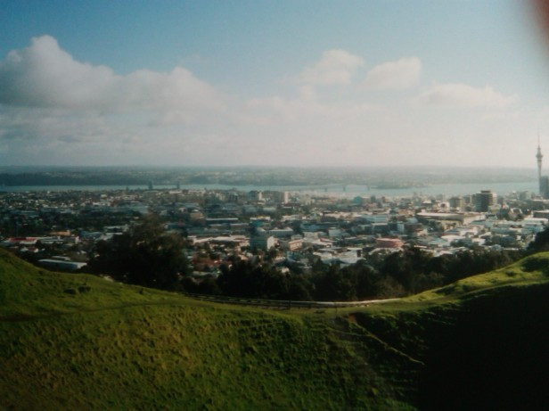 View of Auckland, New Zealand from Mt. Eden