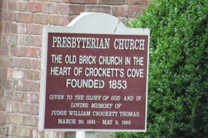 Crockett's Cove Church sign