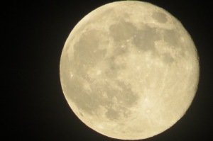 supermoon up close