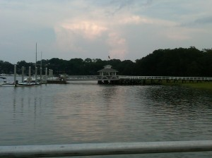 Hilton Head dock and sunset