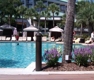 Hilton Head poolside cabanas