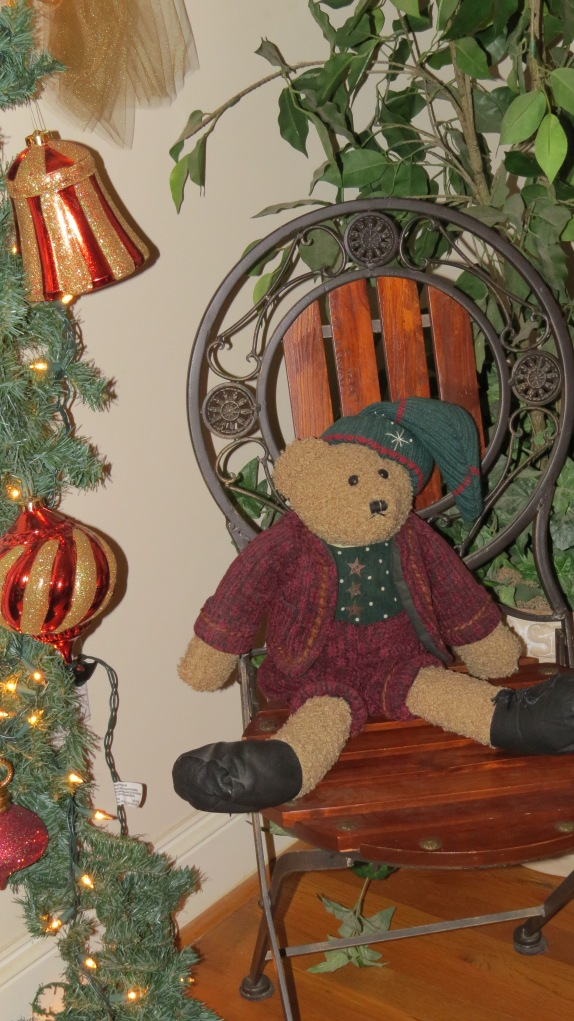 Christmas 2013 teddy bear in chair
