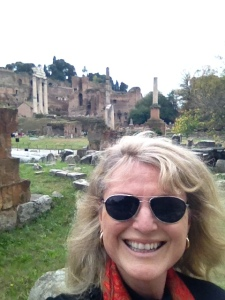 Rome Renee with forum behind