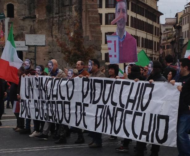 Rome Sindaco pinocchio