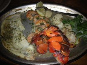 Carolina Beach broiled seafood