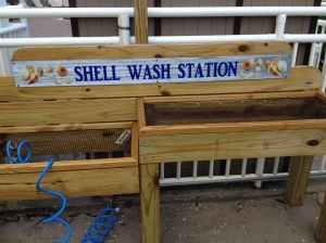 Carolina Beach shell wash station