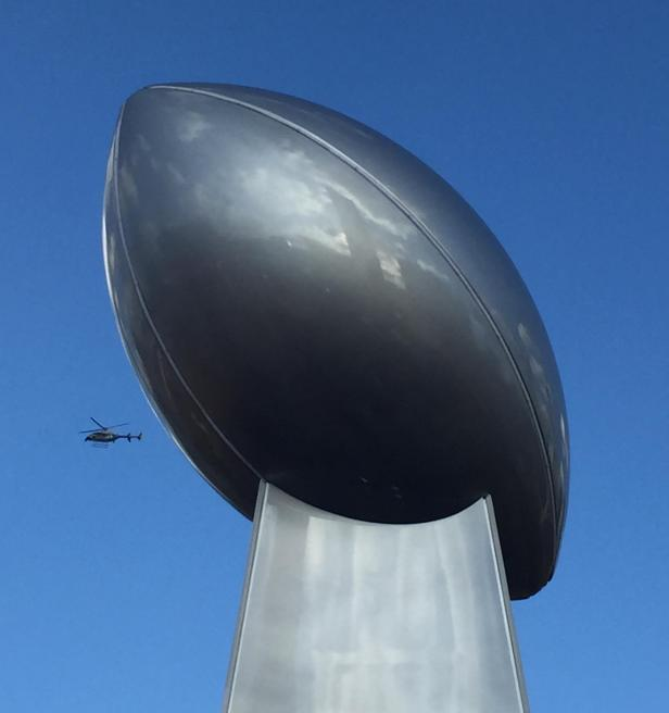 Atlanta's Football and Helicopter